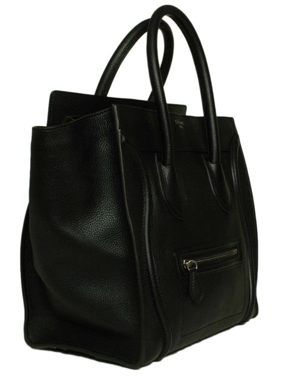 CELINE Black Leather Luggage Bag 2