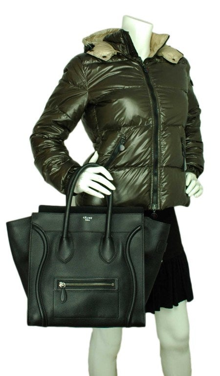 CELINE Black Leather Luggage Bag 8