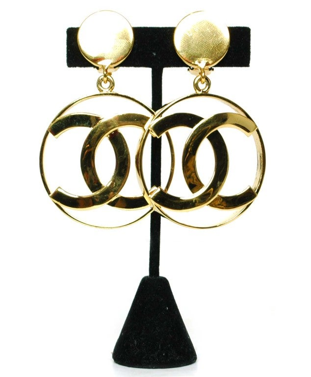 CHANEL Dangling CC Earrings image 2
