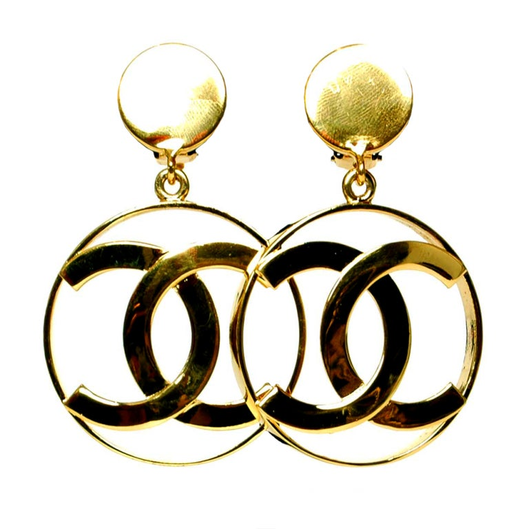 CHANEL Dangling CC Earrings