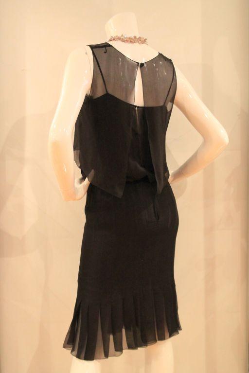 Chanel Black Silk Dress For Sale At 1stdibs