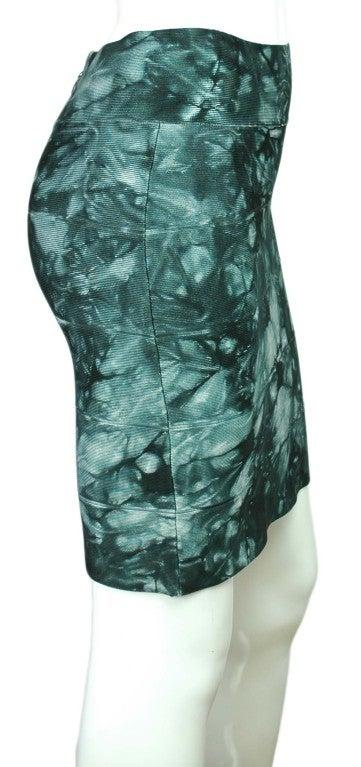 HERVE LEGER Green Tie-Dye Bandage Skirt 3