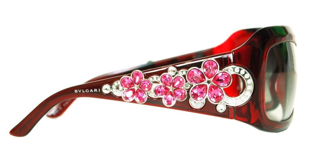 BULGARI Limited Edition Gem and Swarovski Crystal Encrusted Red 2