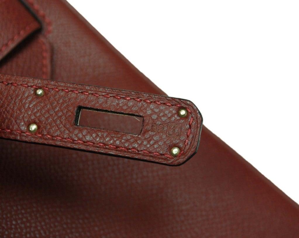HERMES Rouge H Epsom Birkin With Palladium Hardware - 30 CM image 6
