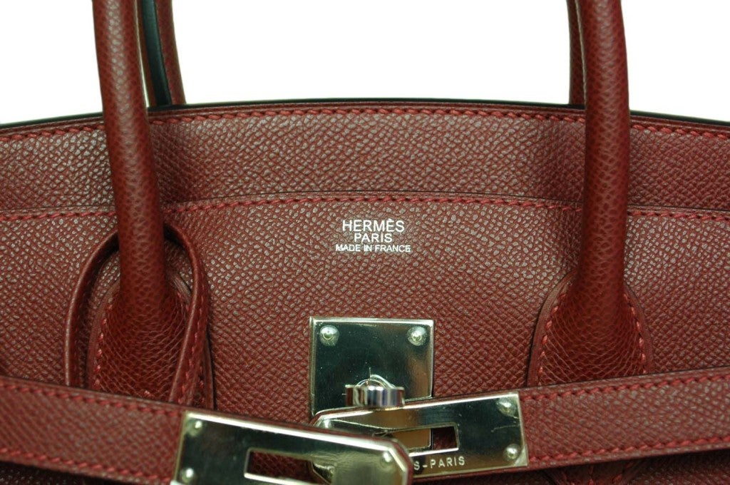 HERMES Rouge H Epsom Birkin With Palladium Hardware - 30 CM image 7