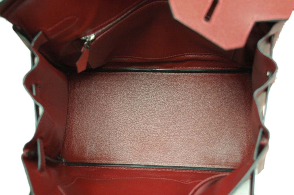 HERMES Rouge H Epsom Birkin With Palladium Hardware - 30 CM image 8