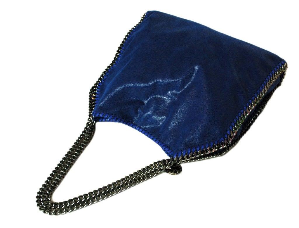 Stella Mccartney Cobalt Blue Falabella Bag With Chain
