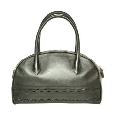 ALAIA Black Bowling Bag with Cut-Out Detailing