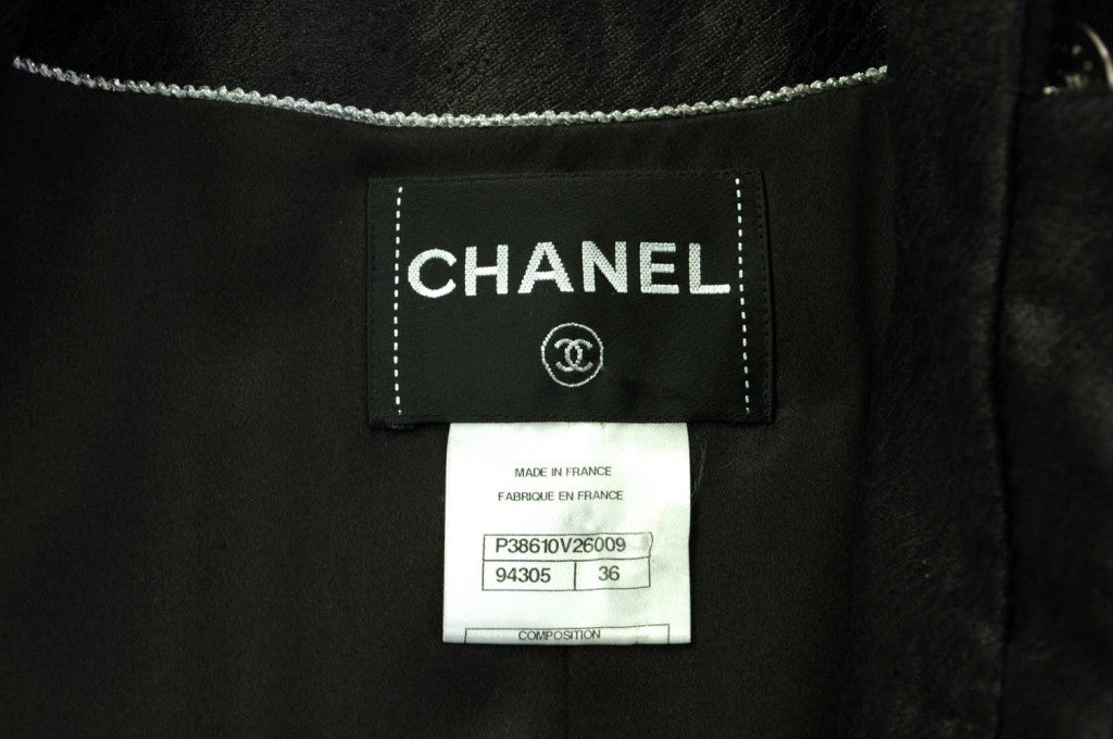 CHANEL Cashmere Button Down Long Coat 4