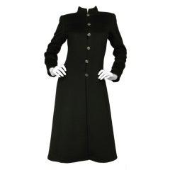 CHANEL Cashmere Button Down Long Coat