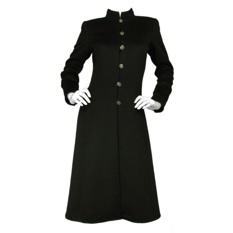 CHANEL Cashmere Button Down Long Coat 1