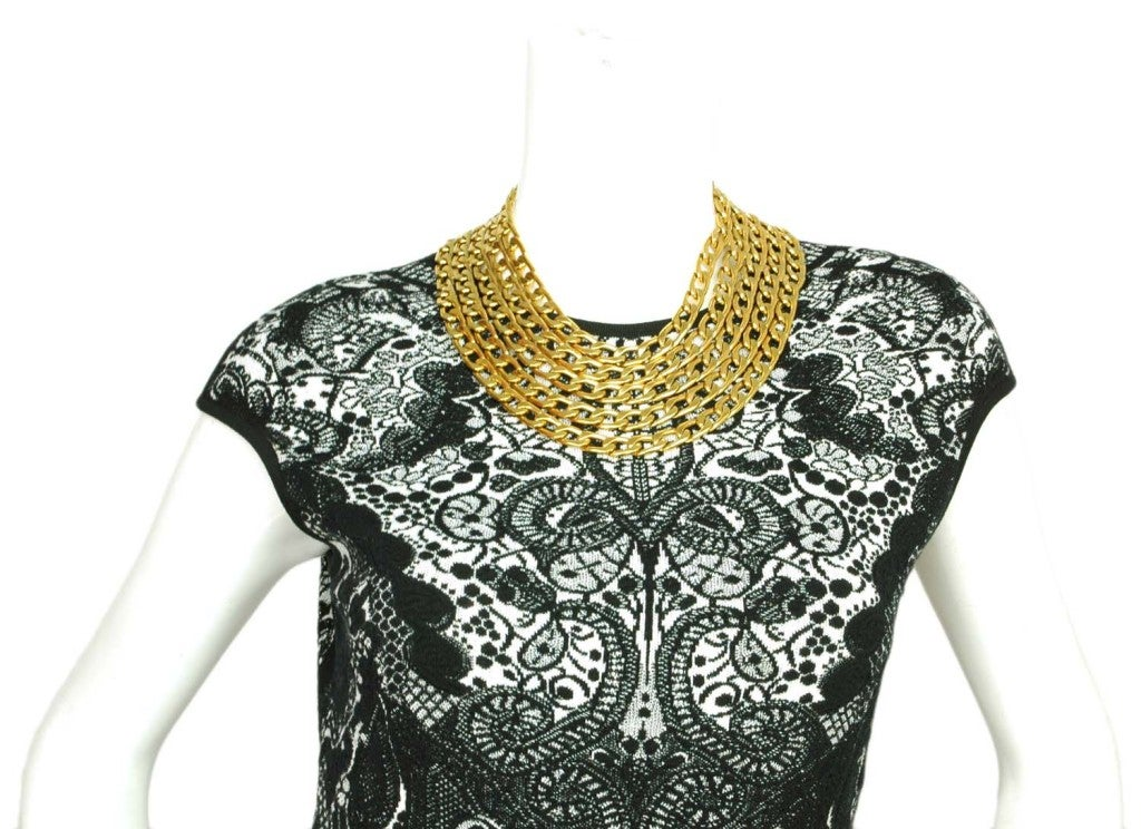 CHANEL Gold Five Row Link Chain Necklace image 5