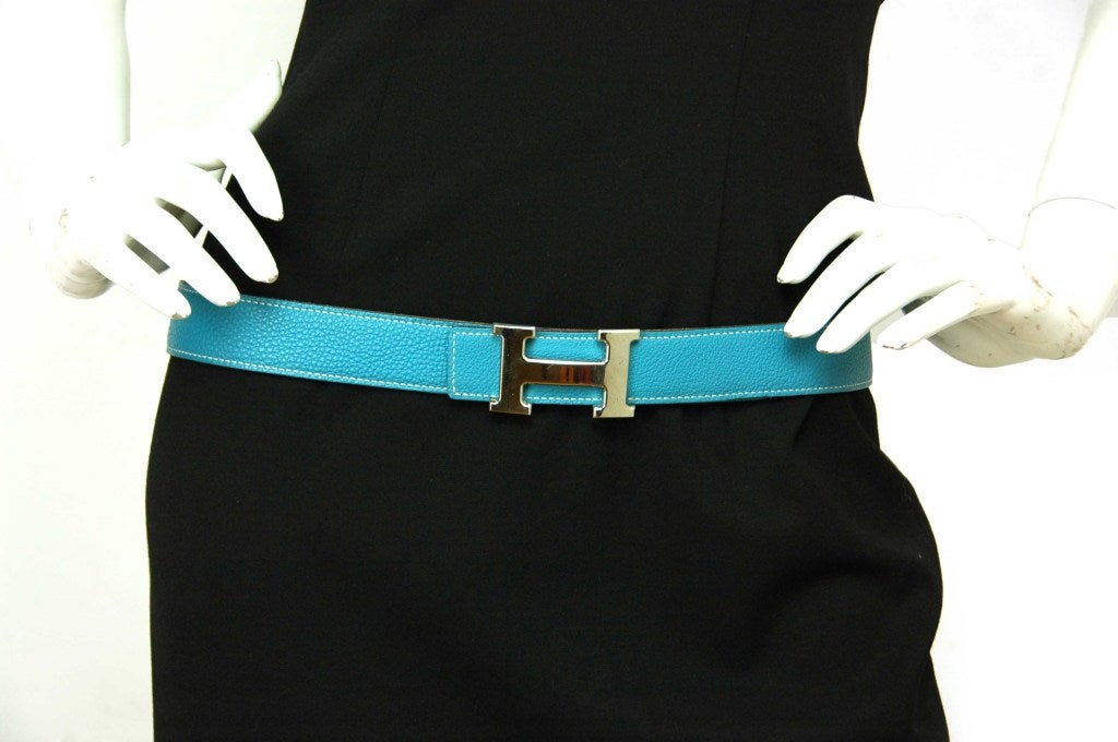hermes leather h belt