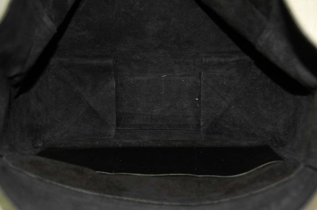 CELINE Black Leather Flap Clutch at 1stdibs