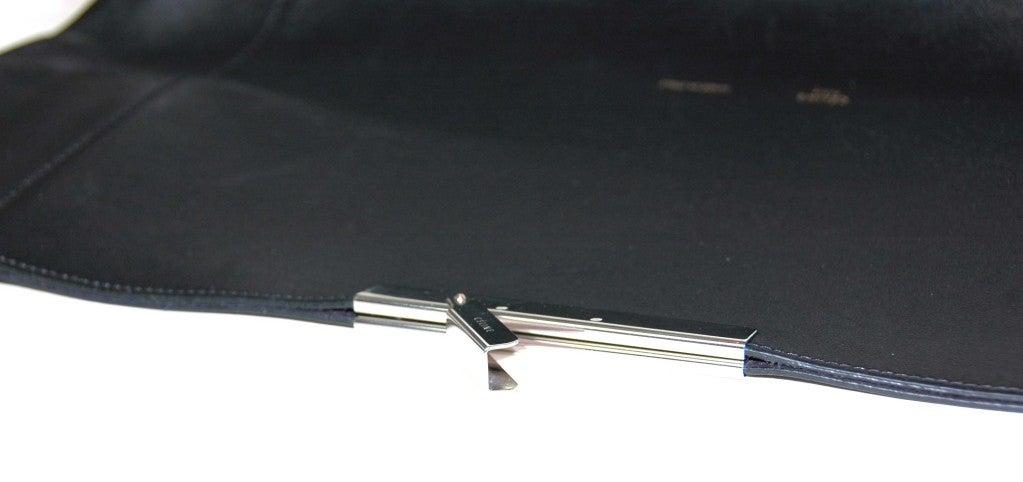 CELINE Black Leather Flap Clutch 7