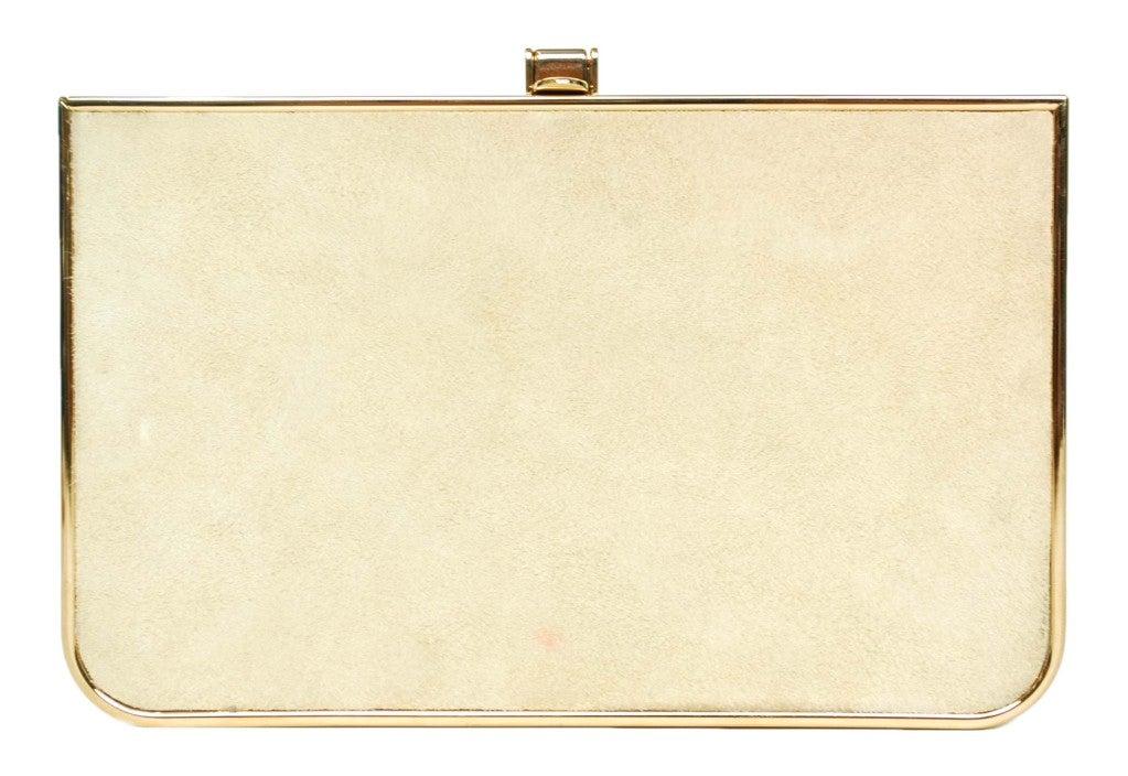 Salvatore Ferragamo Rose Gold Box Clutch 2