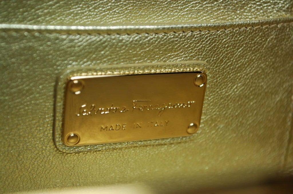Salvatore Ferragamo Rose Gold Box Clutch 5