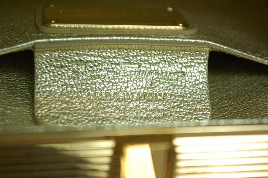 Salvatore Ferragamo Rose Gold Box Clutch 6