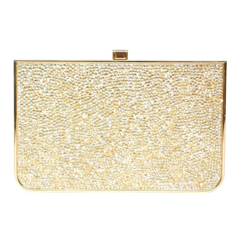 Salvatore Ferragamo Rose Gold Box Clutch 1