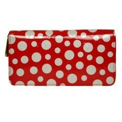 LOUIS VUITTON Limited Edition Red/White Polka Dot 'Kusama' Zippy