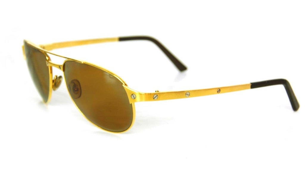 CARTIER Gold Frame Aviators with Screws at 1stdibs