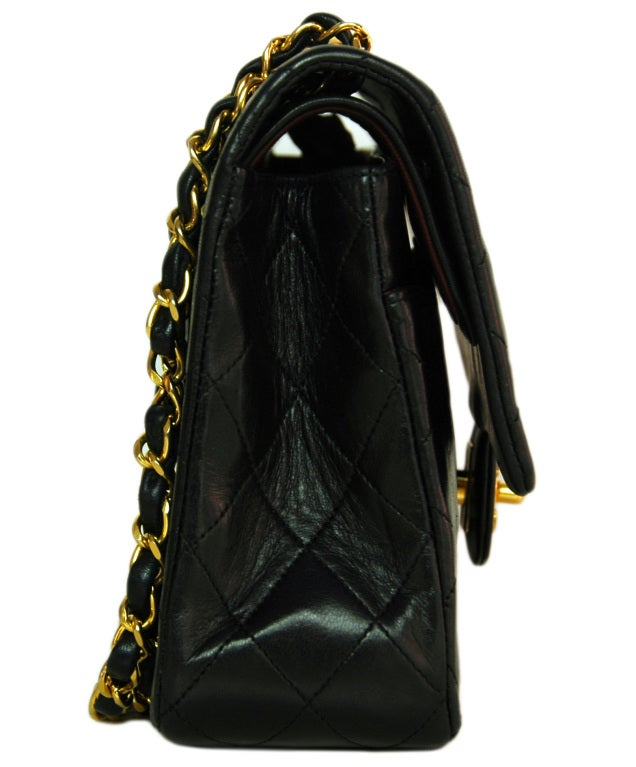 CHANEL Black Quilted Leather Vintage Classic Bag 2