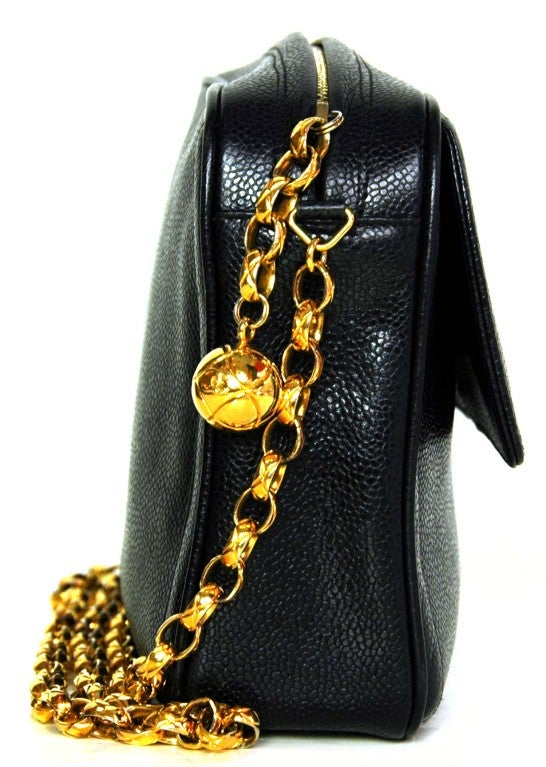Chanel Black Caviar Camera Bag