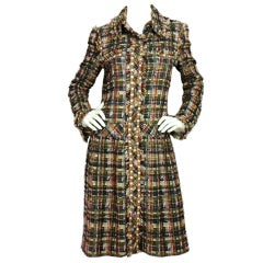 CHANEL Blue/Red Tweed Fantasy Coat NWT rt. $7055