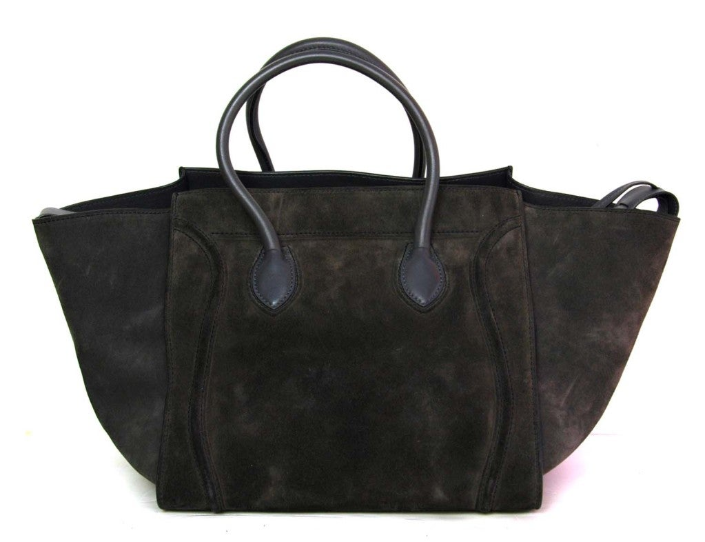 CELINE Grey Suede Phantom Tote Bag 4