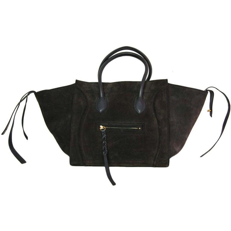 9bae4aae6 CELINE Grey Suede Phantom Tote Bag at 1stdibs