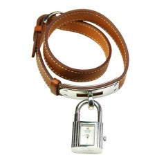 Hermes Lady's Stainless Steel Kelly Wrap Band Wristwatch