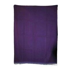 HERMES Purple Cashmere Throw