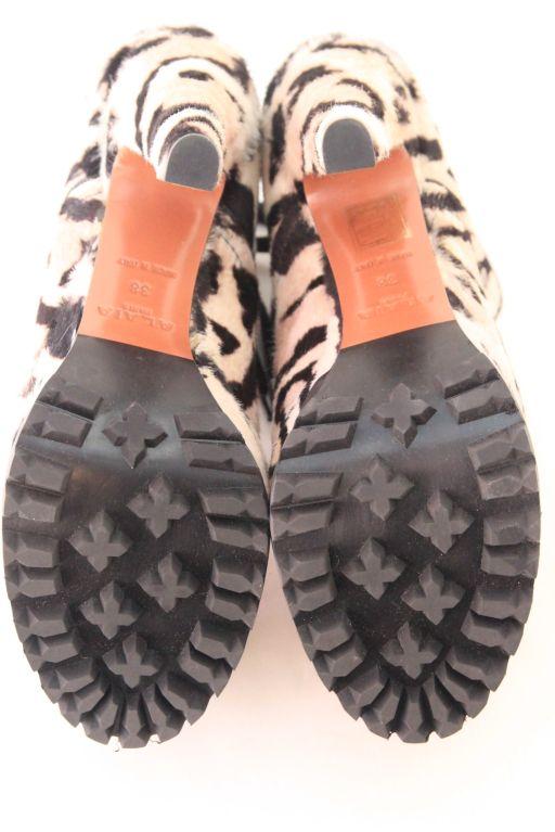 ALAIA Snow Leopard Pony Hair Platform Hiking Boots - sz 38 7
