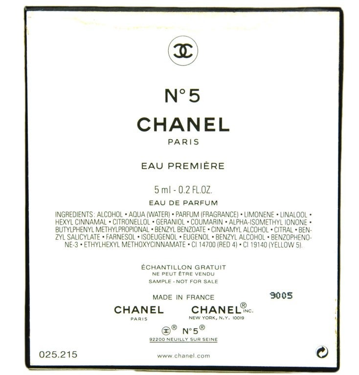 CHANEL Catwalk Limited Edition Eau Premiere .2 Oz Perfume For Sale 2