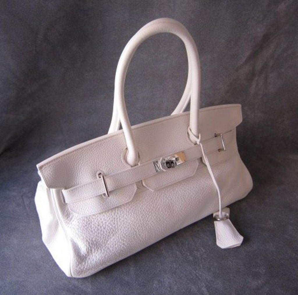 kelly birkin bag - HERMES WHITE LOGO JEAN PAUL GAULTIER BIRKIN BAG 42 CM at 1stdibs