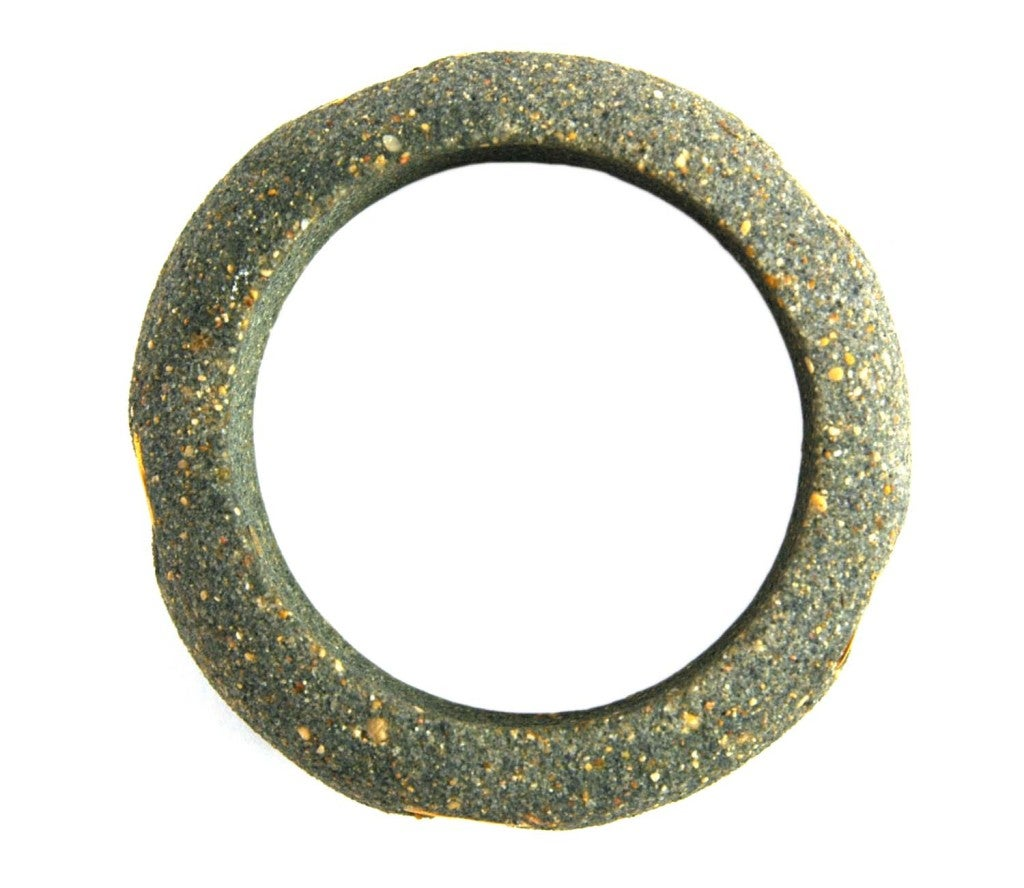 CHANEL Grey Stone Bangle With Inset Gold Tone CC Accents