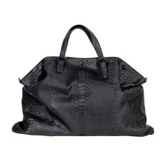Bottega Veneta Black Python bag