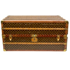 Louis Vuitton Vintage Hand Painted Steamer Trunk