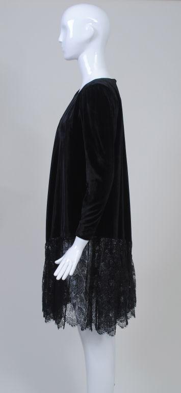 YSL VELVET AND LACE SWING DRESS 3