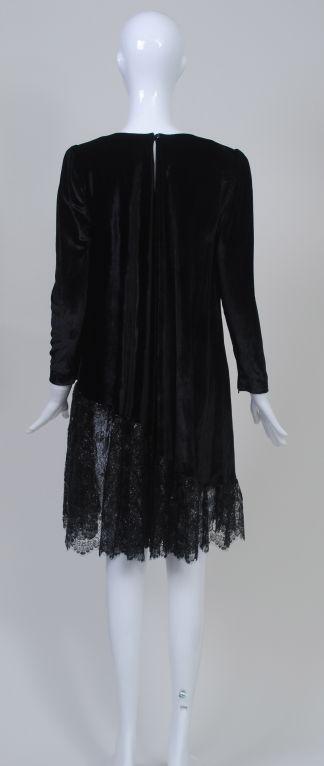 YSL VELVET AND LACE SWING DRESS 4