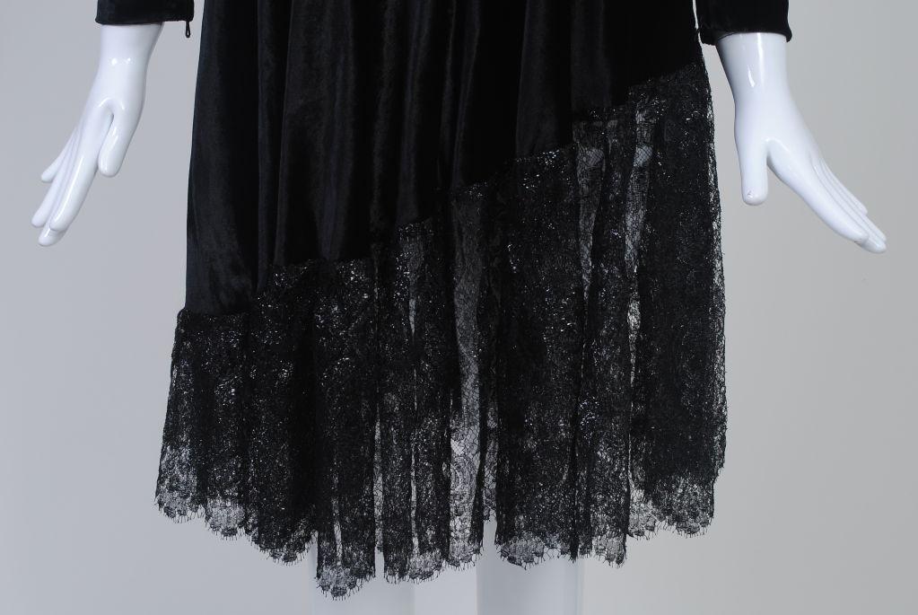YSL VELVET AND LACE SWING DRESS 5