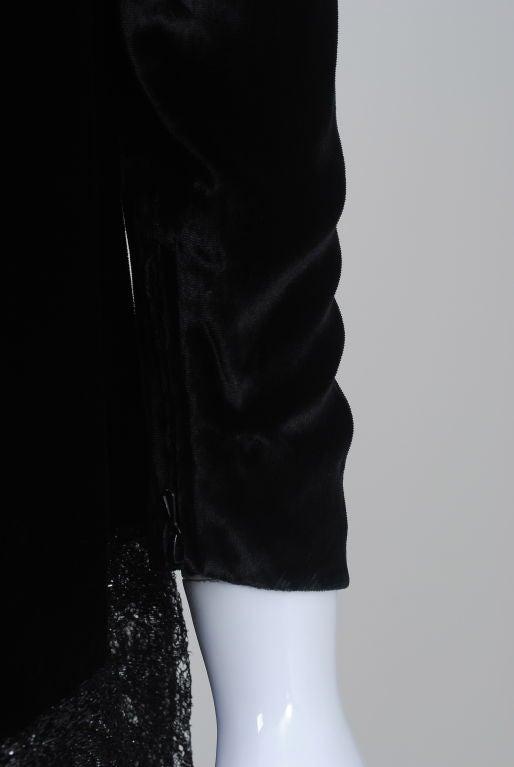 YSL VELVET AND LACE SWING DRESS 6