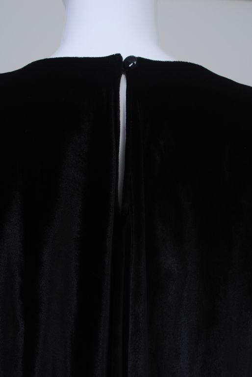 YSL VELVET AND LACE SWING DRESS 7