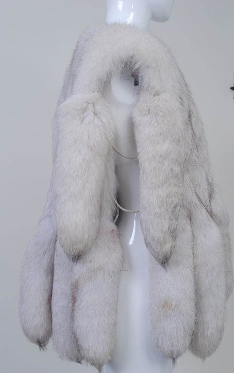 WHITE FOX VEST WITH TAILS image 6