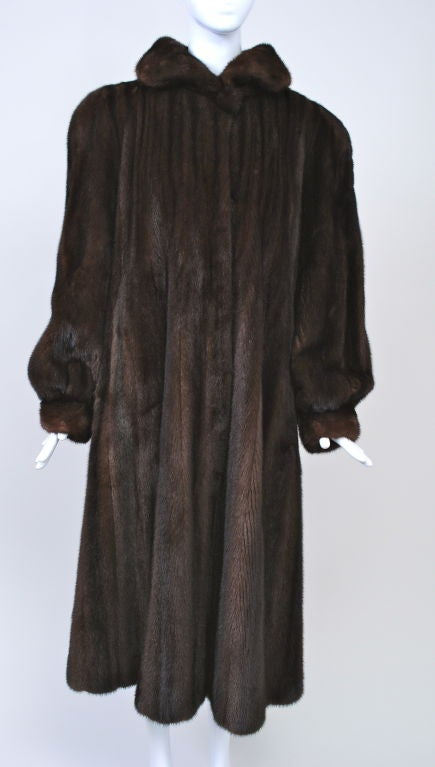 LUXURIOUS MAHOGANY MINK COAT 2