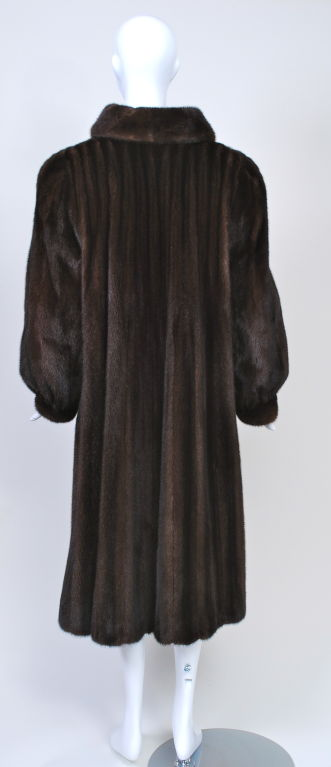 LUXURIOUS MAHOGANY MINK COAT 5