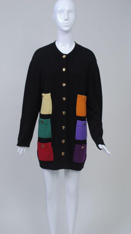 SCALERA BLACK CARDIGAN W/MULTI POCKETS 2
