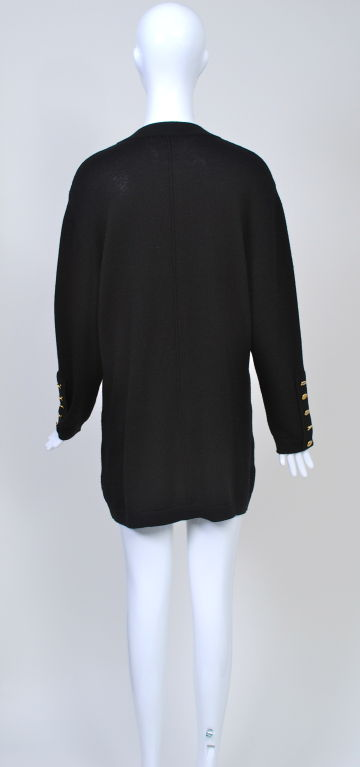 SCALERA BLACK CARDIGAN W/MULTI POCKETS 4