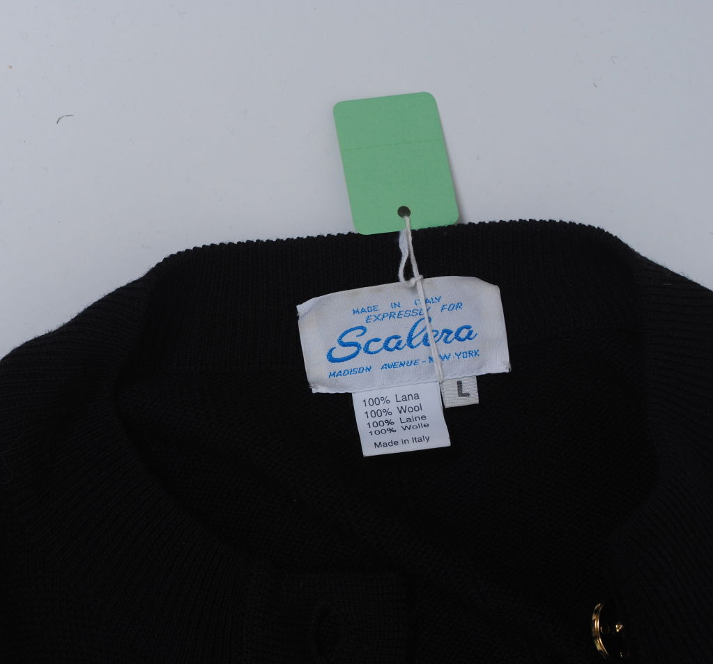 SCALERA BLACK CARDIGAN W/MULTI POCKETS 8