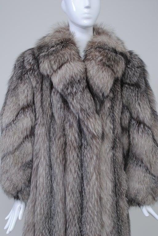 Silver SILVER FOX COAT For Sale